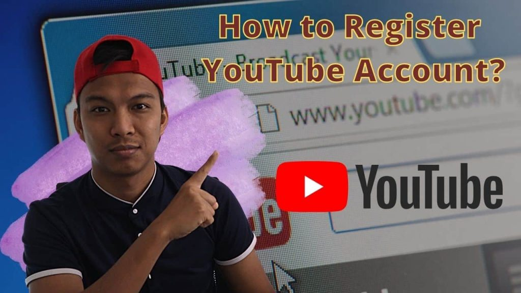 how to register youtube